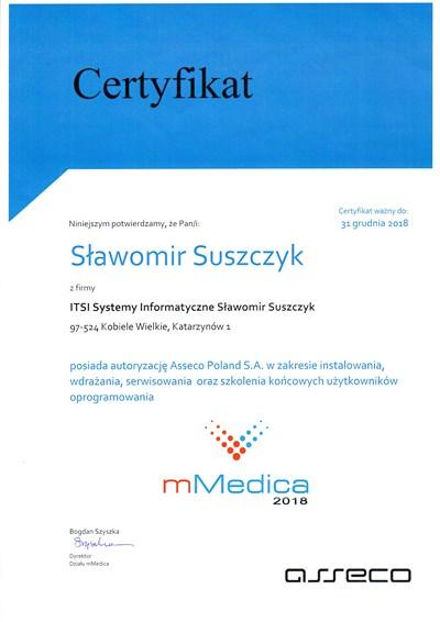 Autoryzacja Asseco S.A. dla systemu mMedica